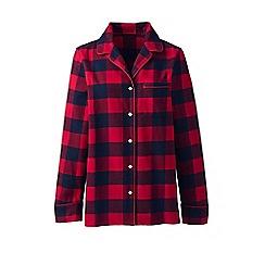 f1db6e046f Lands  End - Red womens plaid flannel pyjama top