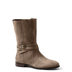 Lands' End - Brown wide suede slouch boots