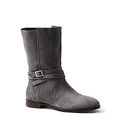 Lands' End - Grey wide suede slouch boots