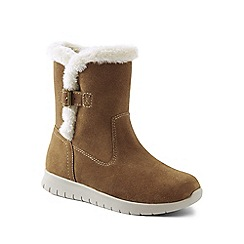 Lands' End - Beige wide lightweight comfort suede boots