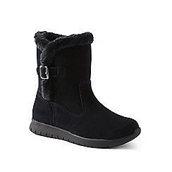 Lands' End - Black lightweight comfort suede boots