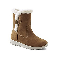 Lands' End - Beige lightweight comfort suede boots