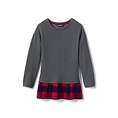 Lands' End - Grey girls' ruffle hem sweater