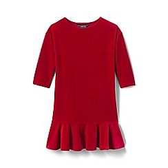 Lands' End - Red girls' drop waist velveteen dress