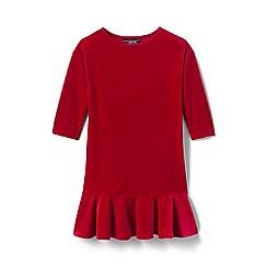 Lands' End - Red toddler girls' drop waist velveteen dress