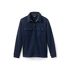 Lands' End - Blue sweater fleece half-zip jumper