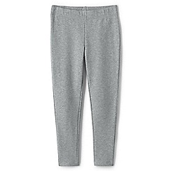 Lands' End - Grey girls' french terry leggings with iron knees