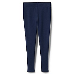 Lands' End - Blue girls' French terry leggings with iron knees