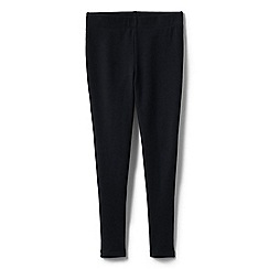 Lands' End - Black girls' French terry leggings with iron knees