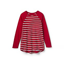 Lands' End - Red girls' striped tunic top