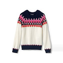 Lands' End - Multi girls' fair isle jumper
