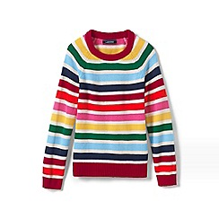 Lands' End - Multi toddler girls' striped jumper