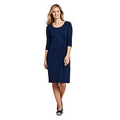 Lands' End - Blue Knotted Wrap Jersey Dress