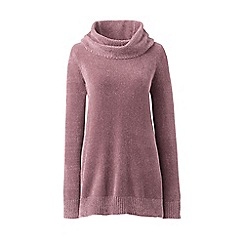 Lands' End - Pink chenille cowl neck sweater