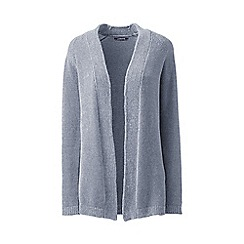Lands' End - Grey chenille open cardigan