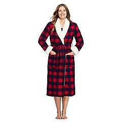 d00a2d5cd0 Lands  End - Red flannel robe with sherpa fleece lining