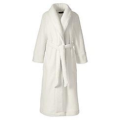 Lands' End - Cream plus sherpa fleece robe