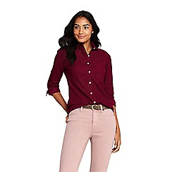 Lands' End - Red patterned pinwale cord shirt