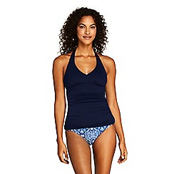 Lands' End - Blue Beach Living Halter Neck Tankini Top