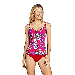 Lands' End - Pink Beach Living Print Wrap Tankini Top