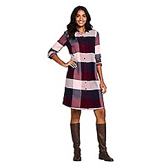 Lands' End - Multi brushed viscose checked shirt dress