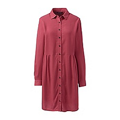 Lands' End - Red brushed viscose shirt dress