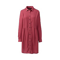 Lands' End - Red petite brushed viscose shirt dress