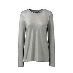Lands' End - Metallic petite lightweight cotton/modal shimmer t-shirt