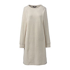 Lands' End - Cream petite casual sweatshirt dress
