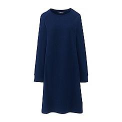 Lands' End - Blue petite casual sweatshirt dress