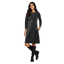 Lands' End - Black sparkle Ponte jersey shift dress