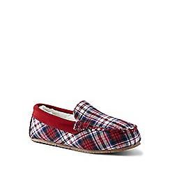 Lands' End - Red flannel moccasin slippers