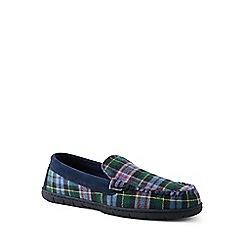 Lands' End - Black flannel moccasin slippers