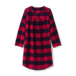 Lands' End - Red girls' flannel nightgown