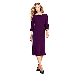 Lands' End - Purple fit and flare rib knitted dress