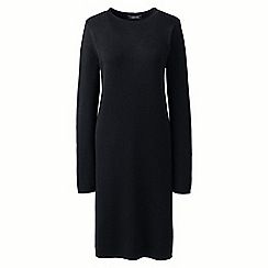 Lands' End - Black rolled neck detail knitted dress