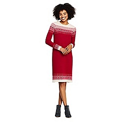Lands' End - Grey fair isle sweater dress