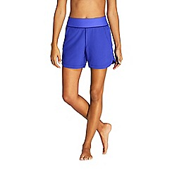 Lands' End - Blue Aqua Sport Comfort Waist 5'' Swim Shorts