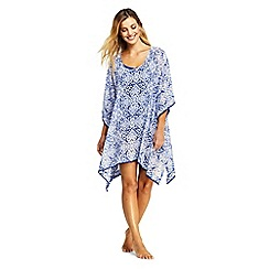 Lands' End - Blue Embroidered Kaftan Beach Cover-Up