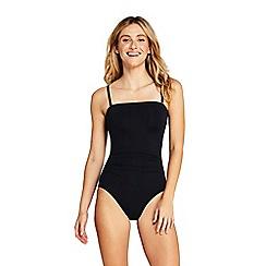 Lands' End - Black Bandeau Perfect Swimsuit