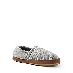 Lands' End - Grey knit slippers