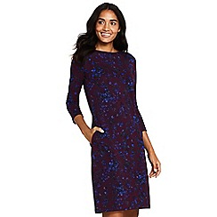 Lands' End - Multi Ponte Jersey Floral Shift Dress
