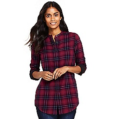 Lands' End - Multi double weave band collar patterned shirt