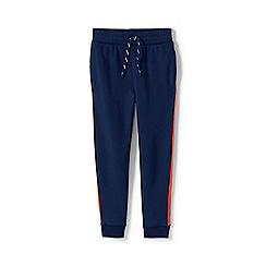 Lands' End - Blue Boys' Iron Knees Side-Stripe Pure Cotton Joggers