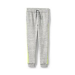 Lands' End - Grey Boys' Iron Knees Side-Stripe Pure Cotton Joggers