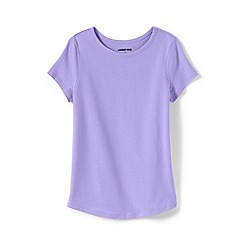 Lands' End - Purple Toddler Girls' Short Sleeve Pure Cotton T-shirt