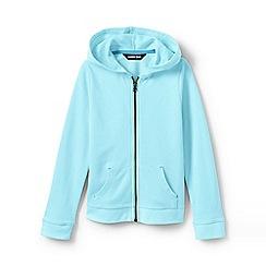 Lands' End - Blue Girls' Lightweight Pure Cotton Hoodie