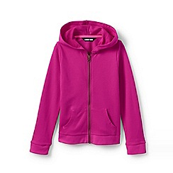 Lands' End - Pink Toddler Girls' Lightweight Pure Cotton Hoodie