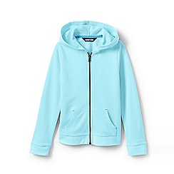 Lands' End - Blue Toddler Girls' Lightweight Pure Cotton Hoodie