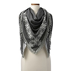 Lands' End - Grey triangle scarf